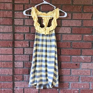 Yellow and grey Jersey tank